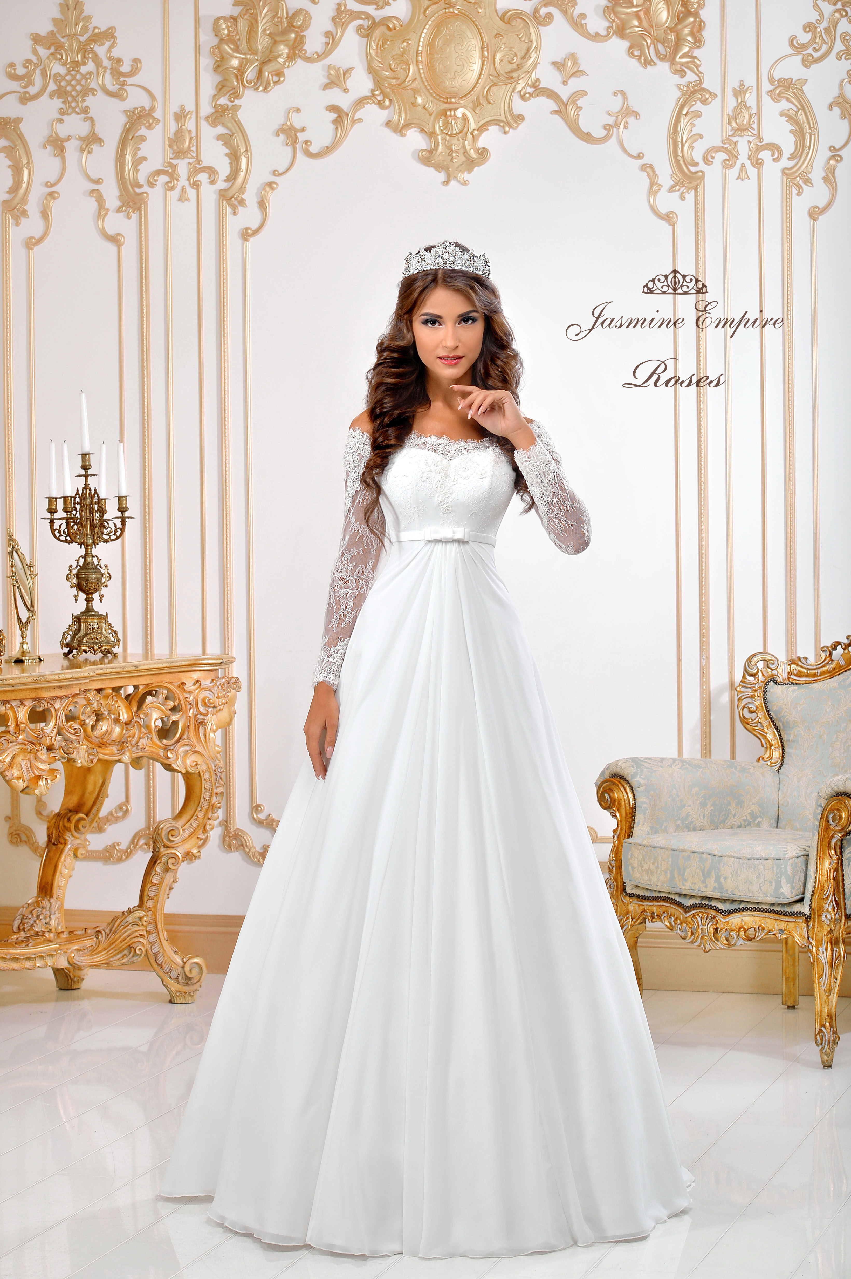 Wedding Dress Roses  1