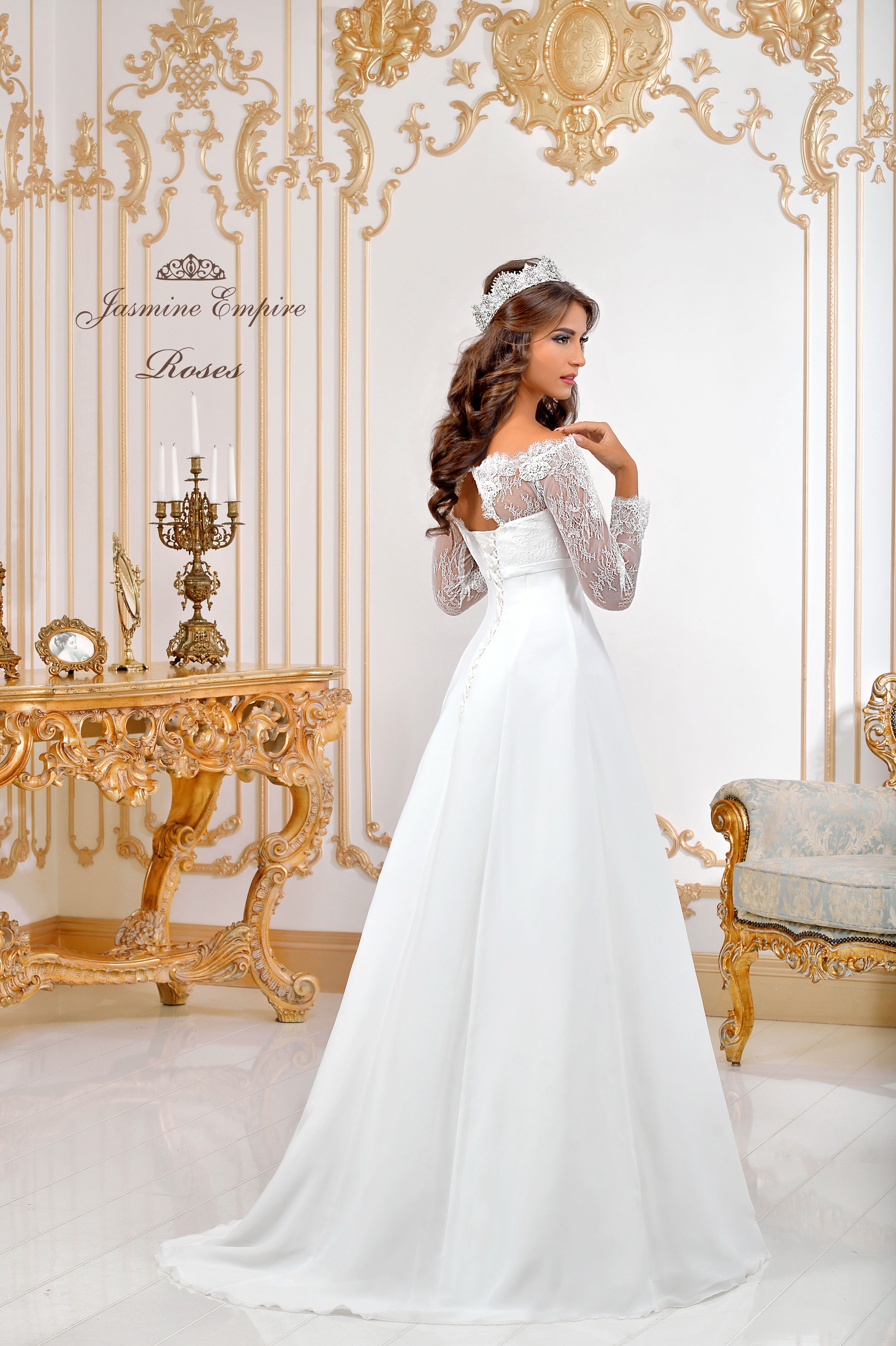 Wedding Dress Roses  3